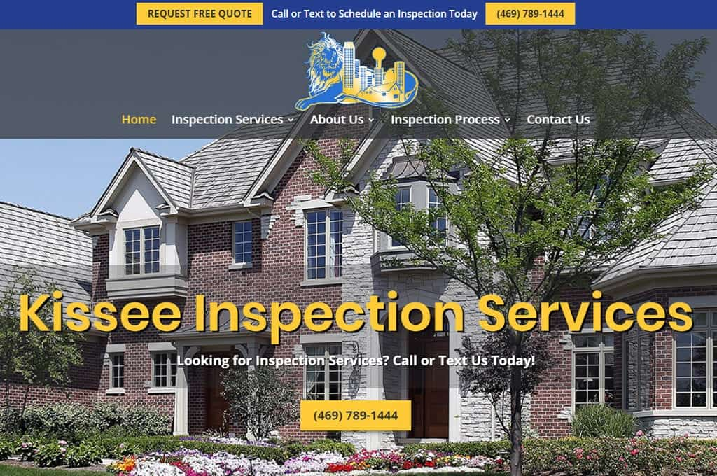 Kissee Inspection Services website Preview