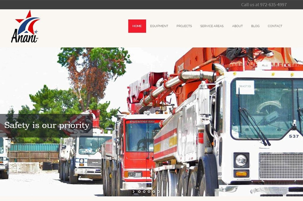 Anani Pumping Website Preview