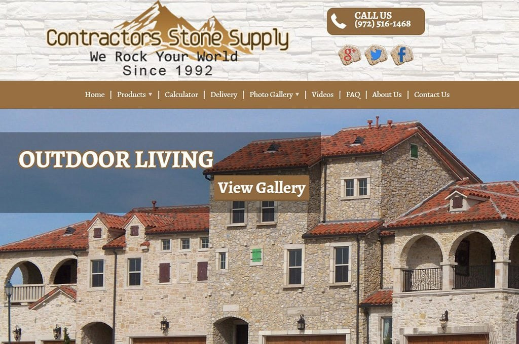 Contractors Stone Supply Website Preview