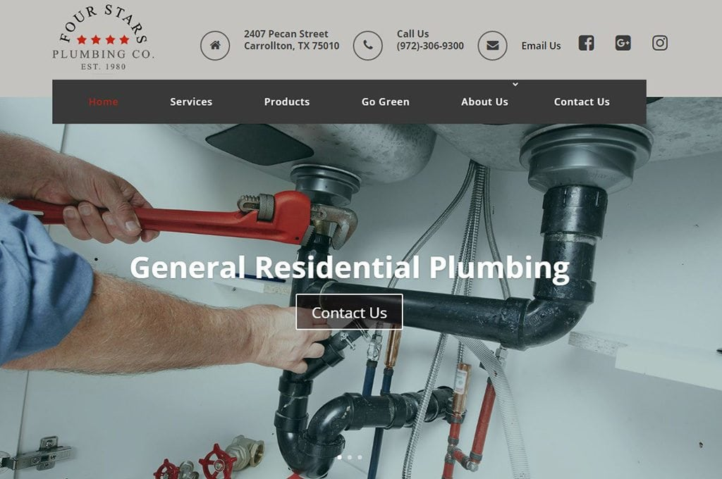 Four Stars Plumbing Website Preview