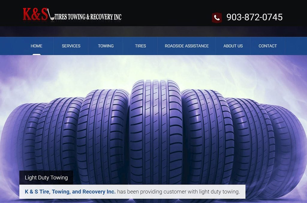 K&S Towing website preview