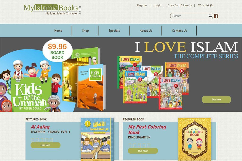 My Islamic Books Website Preview