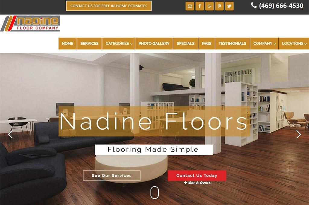 nadinefloors.com Website Preview