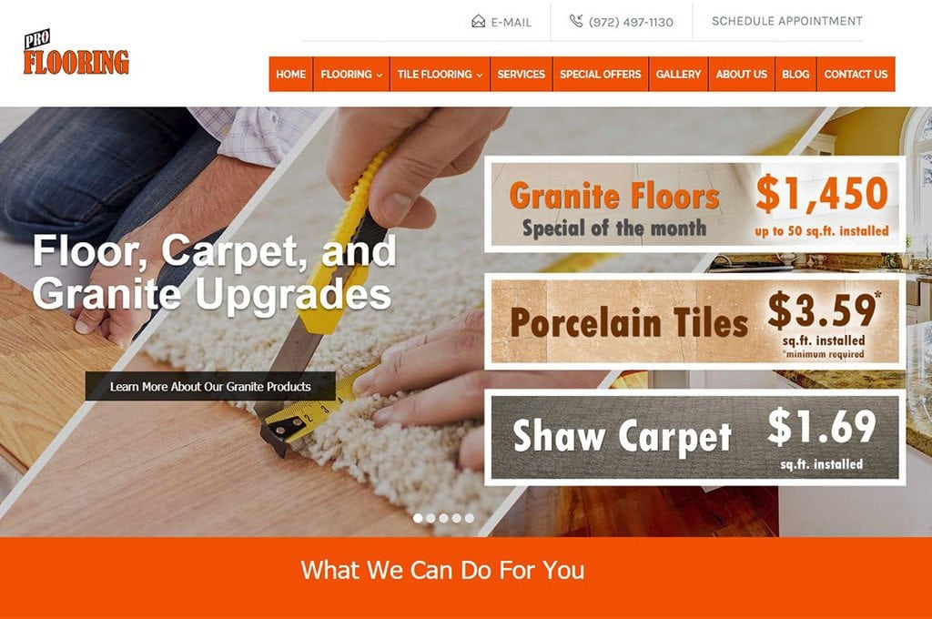 Pro Flooring Website Preview
