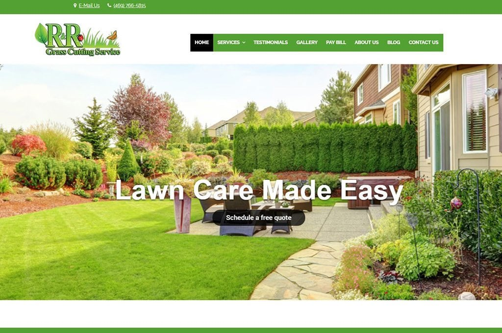R&R Grass Cutting Service website Preview