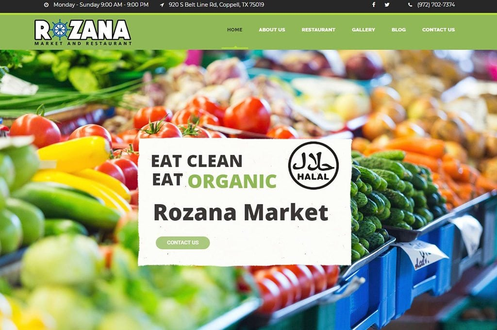 Rozana Market website preview
