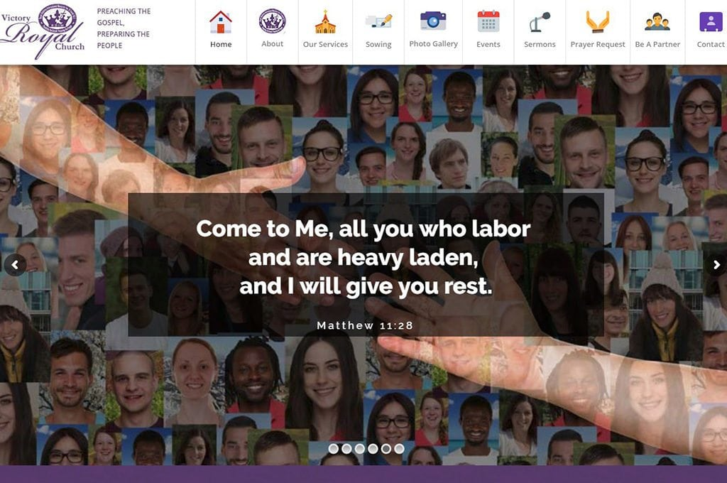 Victory Royal Church Website Preview