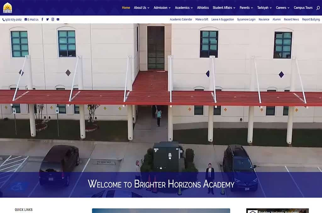 Brighter Horizons Academy website Preview