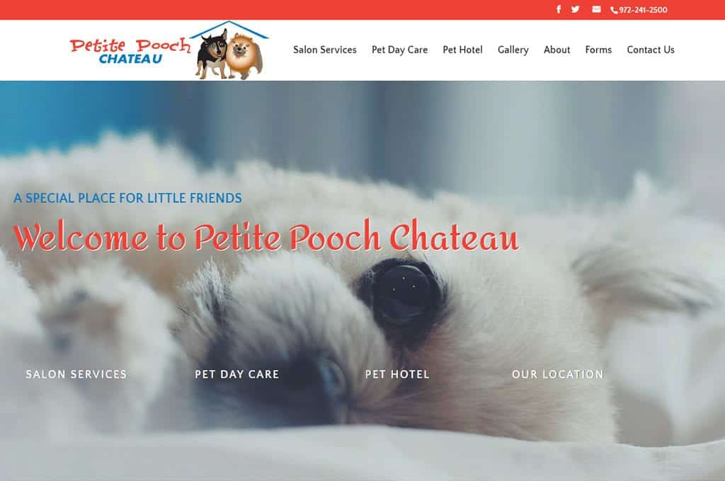 Petite Pooch Chateau website Preview