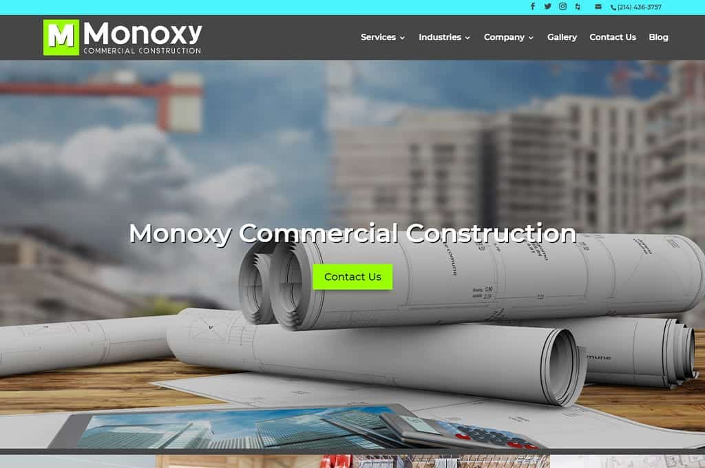 Monoxy Commercial Construction website Preview