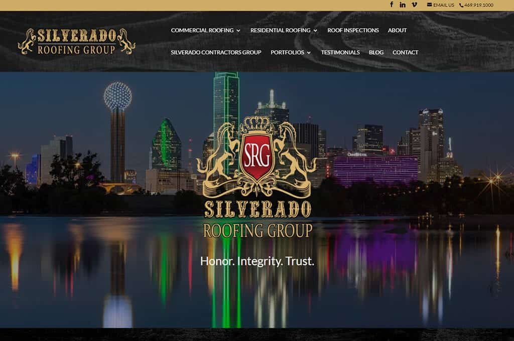 Silverado Roofing Group website preview